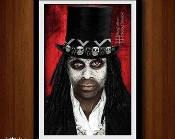 Papa Legba Digital Painting Print, American Horror Story: Coven, Season 3