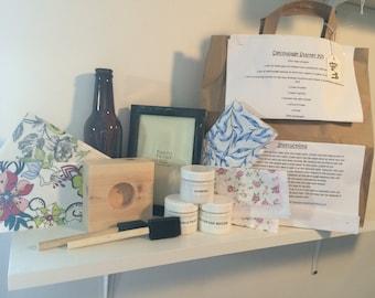 Decoupage starter kit - learn to decoupage - adult craft kit