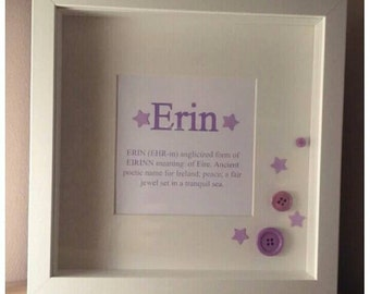 Personalised Children's Framed Name Meaning