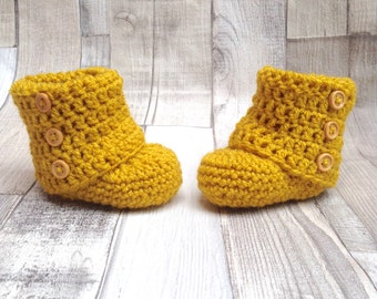 Mustard booties, crocheted boots, Baby shoes, yellow shoes,Baby shower,New born, mustard baby accessories,Crocheted booties,Crochet boots,mu