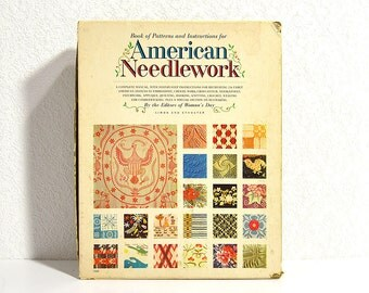American Needlework- Vintage Pattern Book and Dozens of Templates for Embroidery, Quilting, Weaving, and More