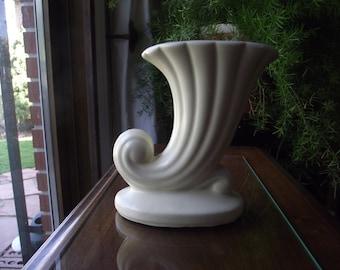Vintage Pottery White Vase