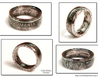 Romania Coin Ring - Amazing Romanian Souvenir - Rings from Coins - Handcrafted - România - 100 Lei - Inele din Monede