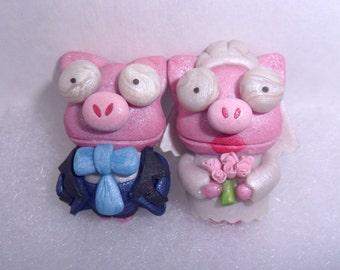 Pig Cuff links Wedding PEARL The Simpsons Lisa's Weeding Cufflinks