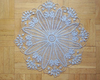 Blue-grey crochet doily