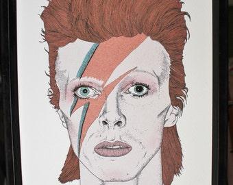 David Bowie Alladin Sane Art Print
