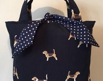 Beagle dog print handbag