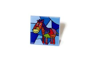 Magnet, fridge magnet, horse magnet