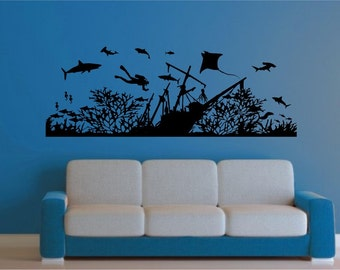 Sea Life Wall Decals Etsy