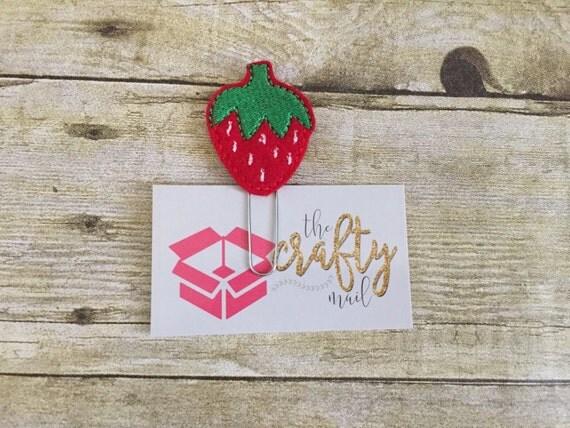 Strawberry Paper Clip/Planner Clip/Bookmark