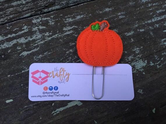 Pumpkin Planner Clip/Paper Clip/Feltie Clip. Coffee Planner Clip. Halloween Planner Clip. Autumn/Fall Planner Clip