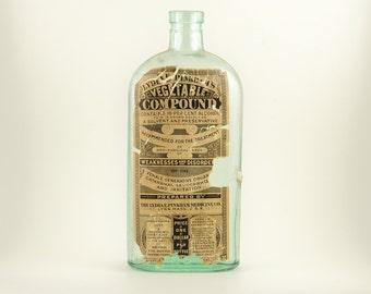 Lydia  Pinkham Vegetable Compound Medicine Bottle - 1800's vintage