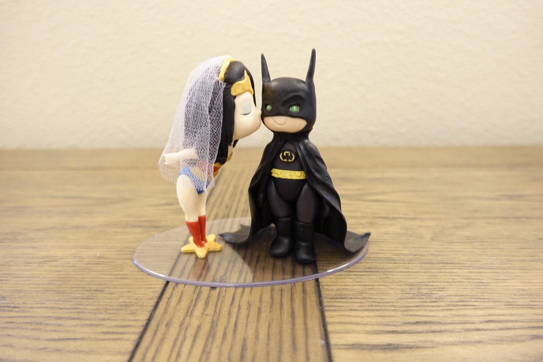 Wonder Woman and Batman Cake Topper Wedding Cake by PlayCraft
