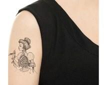 Temporary Tattoo - Ribcage Birdcage