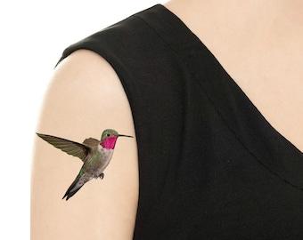 Temporary Tattoo - Hummingbird - Various Patterns / Tattoo Flash