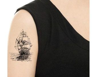 Temporary Tattoo - Vintage Ship - Various Patterns