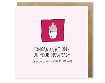 Original New Baby Congratulations Card
