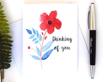 "Watercolor ""Thinking of You"" Cards"