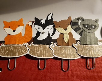 Woodland Critter Planner Clips