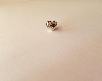 Sterling Silver Treasured Heart Charm