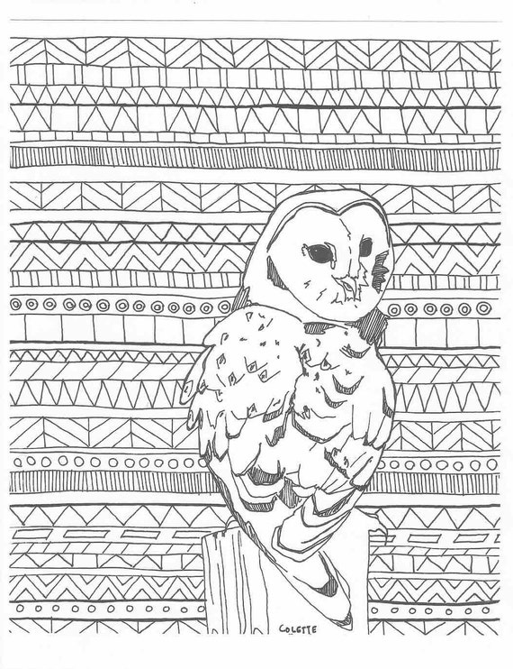 aztec owl coloring pages - photo#9