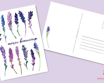 Merci beaucoup French Lavender - Printable & Instant Download