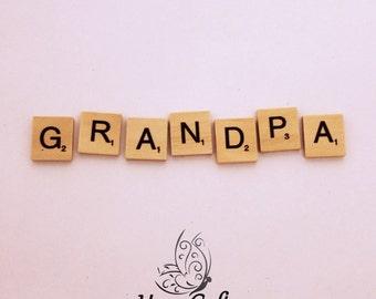 Wooden Letter Magnet Word Grandpa