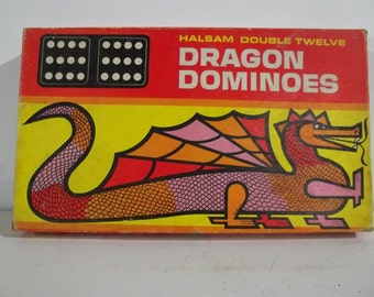 Vintage Halsam Double Twelve Dragon Dominoes - FREE SHIPPING!!!