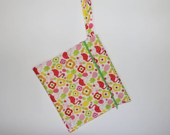 Wet Bag - Flowers and Flamingos Print