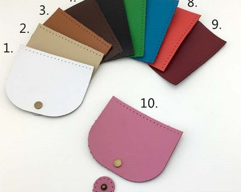 1Set 4.7x4 inch  PU Leather Bag Cover With Magnetic snaps/10*12cm Bag Covers/Handmade purse supply/10 colors in