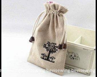 Coin purse/Drawstring Bag/Collecting bag/Pouch/flocking tree - BB358