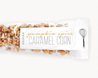 Pumpkin Spice Caramel Corn w/White Chocolate Drizzle