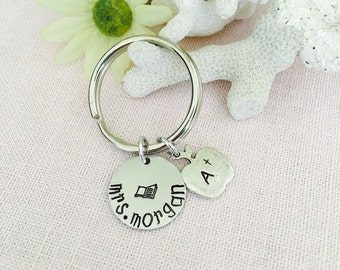 Personalized Teacher Appreciation Gift Keychain