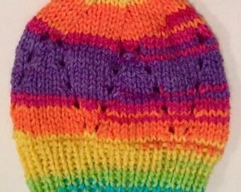 Rainbow 0-3 Month Newborn Baby Hat