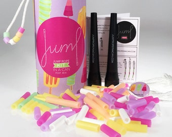 Beaded Jump Rope Activity Kit in a Can // POP MIX w/ Glow-in-the-Dark