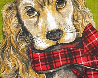 "Vintage Tea Towel ~ Irish Linen ~ ""Best Friend"""