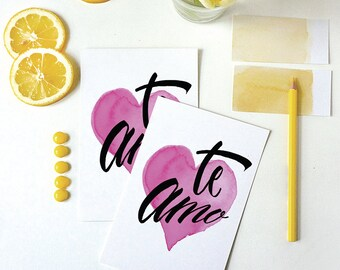 te amo card | i love you card | spanish | love card | anniversary card | engagement card | amor