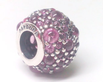 New Authentic Pandora Sterling Silver Pink shimmering droplets charm 791755PCZ