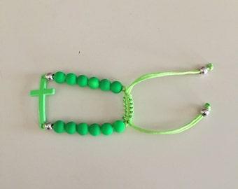 Sideways cross bracelet for children