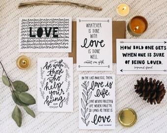 "Love 4""x6"" Greeting Card Set of 5"