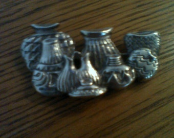 Sterling etched pin