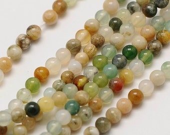 3mm Natural Indian Agate Beads Round 3mm Indian Agate 3mm 3mm Agate 3mm Beads 3mm Round Agate Indian Agate Gemstone Beads