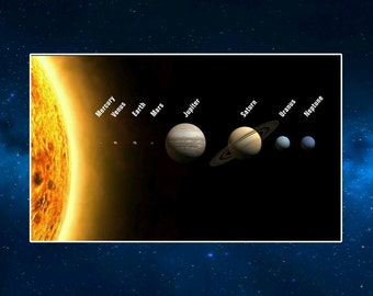 The Solar System Fridge Magnet NEW. Educational, The Planets. Astronomy