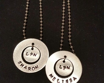 Personalized Circle Pendant Necklace
