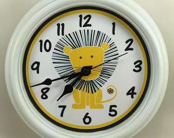 LION, King of the Jungle, Nursery Wall Clock