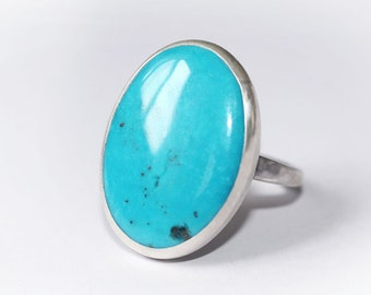 Turquoise Ring, Turquoise Silver, Sterling Silver Ring, Turquoise Jewellery, Natural Turquoise Ring, December Birthstone Ring