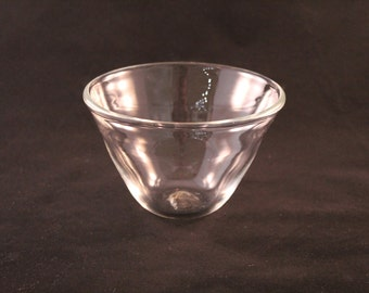 Hand Blown Clear Bowl