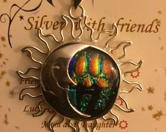 I said eclipse made in Silver 925 sterling silver Dichroic Glass Eclipse charm sterling silver & dichroic glass 15% off Code HOLIDAY15