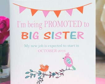 Pregnancy Announcement / Big Sister Card