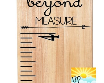 You Are Loved Beyond Measure Style 2 Add On for Ruler Growth Chart Decal